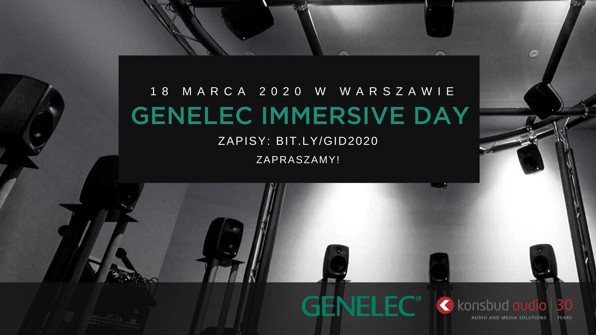GENELEC IMMERSIVE DAY w Warszawie | 18 marca 2020